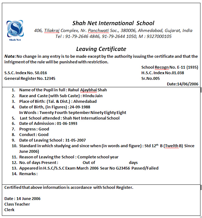 Leave application letter school teacher