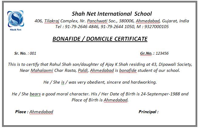 application letter for bonafide certificate from school school certificate generation system 388